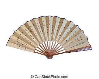 um, chinês, ventilador