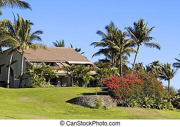 um, condomínio, recurso, localizado, em, kihei, maui, havaí