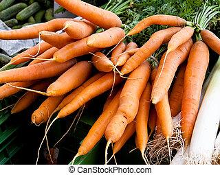 um, confederação, de, fresco, cenouras, -, cenouras