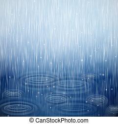 um, dia chuvoso