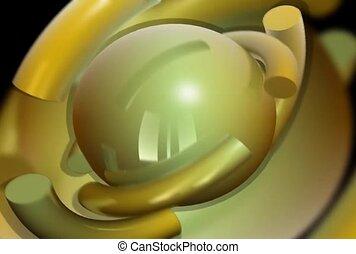 um, esfera, fundo