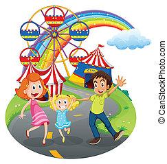 um, família, em, a, carnaval