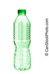 um, garrafa água, branco, fundo