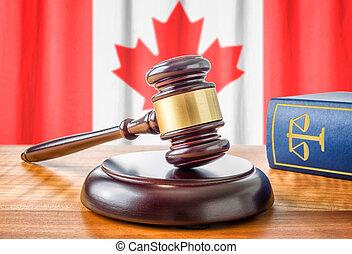um, gavel, e, um, livro lei, -, canadá