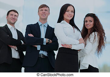 um, grupo, de, sucedido, pessoas negócio