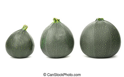 um, grupo, de, três, zucchinis., gostoso, abobrinhas, isolado, ligado, um, branca, experiência., ingredientes, para, verde, juices., verde, zucchinis.