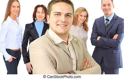 um, grupo pessoas empresariais