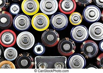 um, imagem, de, baterias
