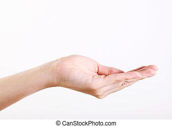 um, mão
