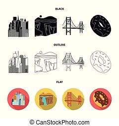 um, megacity, um, garganta grande, um, ponte dourada portão,...