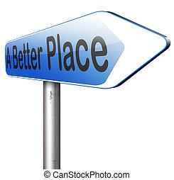 um, melhor, lugar