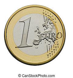 um, moeda, euro