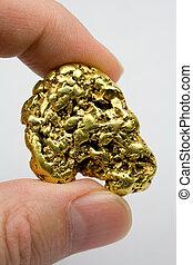 um, onça, califórnia, pepita ouro