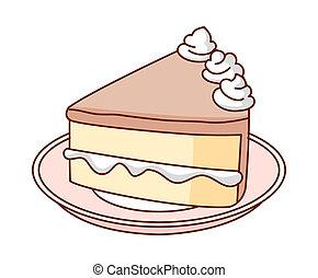 um, pedaço bolo