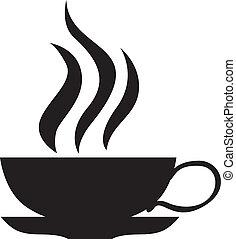 um, pequeno, xícara chá