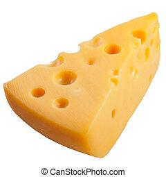 um, queijo, isolado