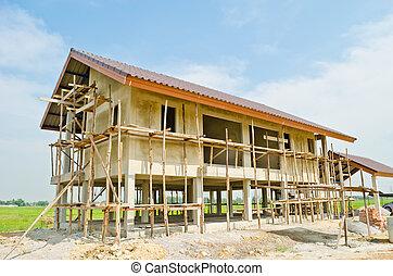 um, repouso novo, construção