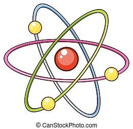 um, simples, esboço, de, ciência