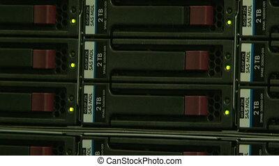 um, sistema, bloco, de, a, computador, servidor