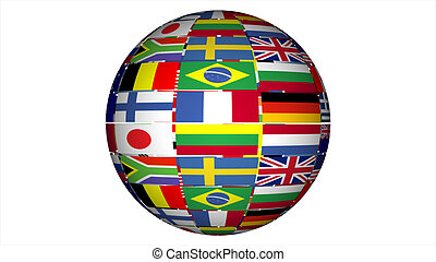 um, trabalho, de, bandeiras
