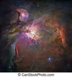um, unprecedented, olhe, a, nebulosa orion, por, hubble,...