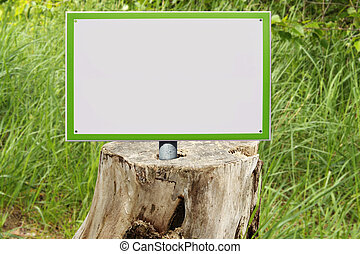 um, vazio, placa sinal