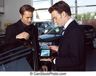 um, vendedor carro, opi