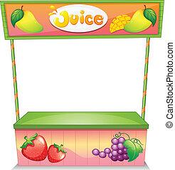 um, vendedor fruta, tenda