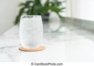um, vidro água