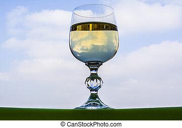 um, vidro champanhe