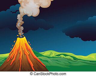 um, vulcão