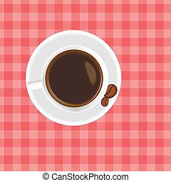 um, xícara café, tabela