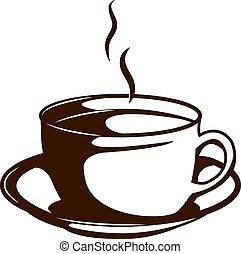 um, xícara café