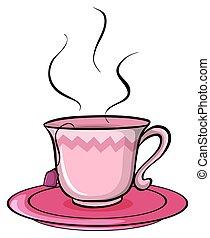 um, xícara chá