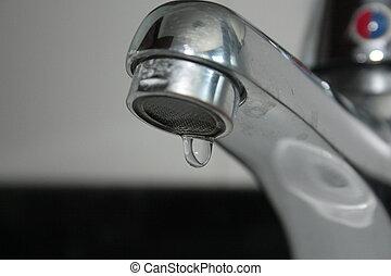 uma, simples, gota, de, agua