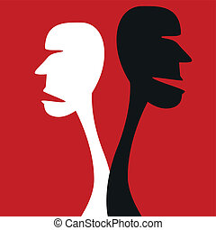 umano, disaccordo, concept.