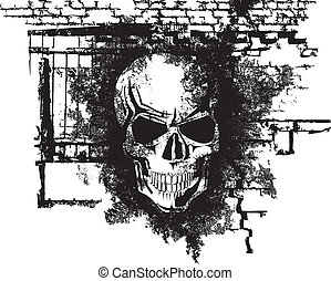 umano, halloween, cranio