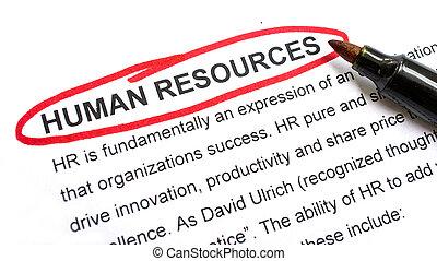 umano, risorse