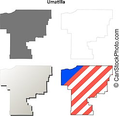 Umatilla County, Oregon outline map set - Umatilla County, ...