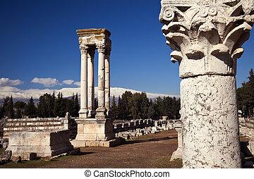 Umayyad ruins in Anjar