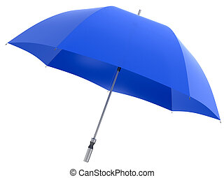 Umbrella- 3d rendering. White background.