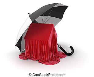 Umbrella and House