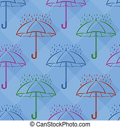Umbrella and rain, background
