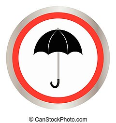 Umbrella and rain drops icon.