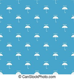 Umbrella and rain drops pattern seamless blue