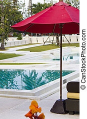 Umbrella at the pool