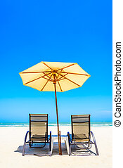 Umbrella beach chair