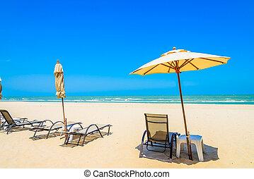 Umbrella beach chair