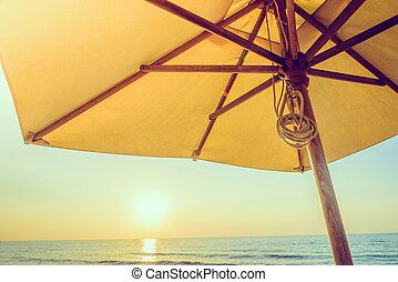 Umbrella beach - vintage filter