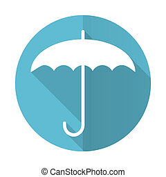 umbrella blue flat icon protection sign